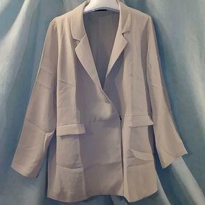 Zara cream double snap blazer
